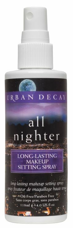 Urban decay All Nighter long lasting makeup setting spray- I've been using this since it came out and I use it every time I put on my makeup. It really does work to keep on your makeup (I used to use hairspray to set my makeup but this seems way less harmful for my skin!)