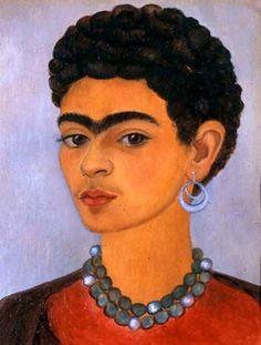 Frida Kahlo - Self Portrait with Curly Hair
