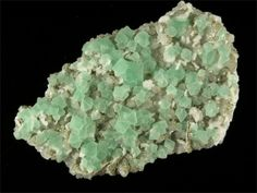 images of green crystals | Smith & Sons Fine Minerals | Green Fluorite with Quartz Crystals