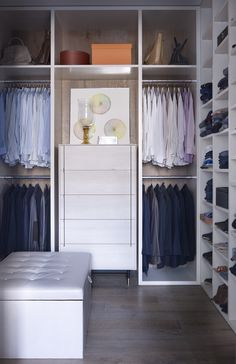 Modern Storage Room and Closet in New York, NY by Shawn Henderson Interior Design