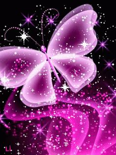 The perfect Butterfly Pink Sparkle Animated GIF for your conversation. Unicornios Wallpaper, Flower Phone Wallpaper, Glitter Wallpaper, Heart Wallpaper, Purple Wallpaper, Butterfly Wallpaper, Wallpaper Iphone Cute, Cellphone Wallpaper, Galaxy Wallpaper