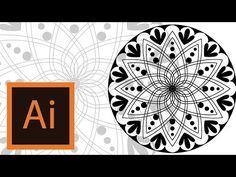 Tutorial Mandala -Illustrator //MANDALA ILLUSTRATOR// - YouTube