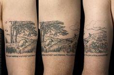 Anil gupta gupta the pooh tattoo Get A Tattoo, Arm Tattoo, Sleeve Tattoos, Tattoo Ink, Black Tattoos, Cool Tattoos, Tatoos, Eeyore Tattoo, Winnie The Pooh Tattoos