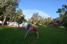 Rainbow camping #aupair #travel #rainbow #camping #aupairadventures aupairadventures.com