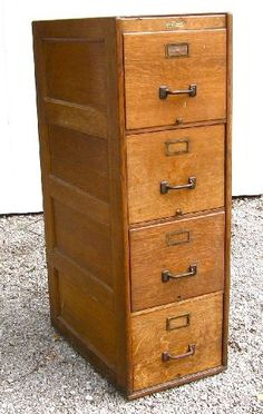Antique Wood File Cabinet & Circa 1890s to 1900 Victorian Antique Arts and Crafts Industrial ...