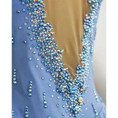 Figure skating dress - Swarovski back detail … Ice Dresses, Figure Skating Dresses, Figure Skating Costumes, Skate Wear, Beautiful Figure, Dance Outfits, Dance Costumes, Ice Princess, Detail