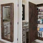 DIY Mirror Storage