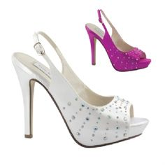 "$72.95 ""Brooke"" platform,dyeable,bride,bridesmaid,bridal,wedding,slingback,peeptoe,sparkle,rhinestone"