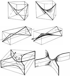 Hyperbolic Paraboloid Drawing Hyperbolic paraboloids