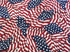 Check out this item in my Etsy shop https://www.etsy.com/listing/184287174/cotton-fabric-american-flag-2-yards-43