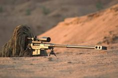 Anti-Material Sniper Rifle in action Sniper Camouflage, Ghost Soldiers, 338 Lapua Magnum, Special Forces Gear, Seven Nation Army, Sniper Training, Army Men, Military Weapons, Guns And Ammo