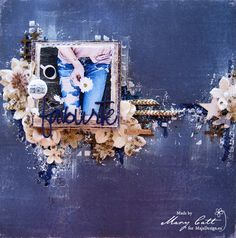 Mary's Crafty Moments: ''Favorite Little Things'' - DT Layout for Maja De...