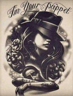 Chicano More Mais Art Chicano, Chicano Art Tattoos, Chicano Drawings, Chicano Love, Body Art Tattoos, Prison Drawings, Gangster Drawings, Gangsta Tattoos, Hipster Drawings
