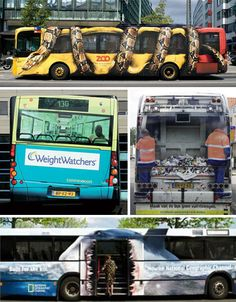 Lugares y Momentos: Guerrilla Marketing: Buses Bus Advertising, Creative Advertising, Guerilla Marketing, Post Bus, Bus Art, Cool Optical Illusions, Budget Planer, Bus Travel, Street Art