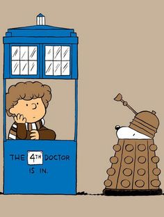 peanuts doctor who crossover