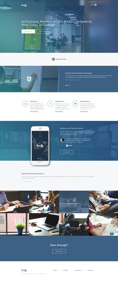 A modern free HTML5/CSS3 website template with a polished look and smooth animations, carefully crafted with the latest web technologies. Made by Peter Finlan.