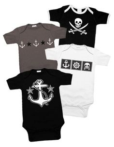 Out to Sea 4 One Piece Set from Punk Baby Clothes. Saved to baby. Shop more products from Punk Baby Clothes on Wanelo. Baby Boy Outfits, Kids Outfits, Pirate Outfits, Baby Boys, Pirate Baby, Nautical Baby, Nautical Nursery, Everything Baby, Baby Time