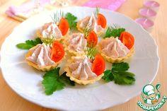 Тарталетки с крабово-творожным кремом - кулинарный рецепт
