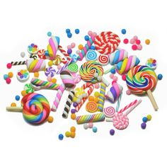 10, 25pcs Clay SWEETS + Sprinkles Decoden Cabochons Set/Mix Kawaii Kitsch Phone