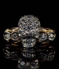 Memento Mori Him or Her Sensational Diamond Skull Ring | eBay