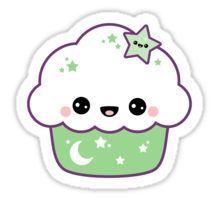 Cute Space Cake Sticker