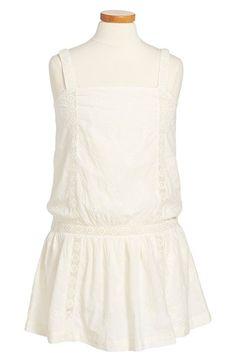 Peek 'Whitney' Crochet Drop Waist Dress (Toddler Girls, Little Girls & Big Girls) Tween Fashion, Girl Fashion, Tween Girls, Toddler Girls, Emma Style, Toddler Girl Dresses, Drop Waist, Frocks, Trendy Outfits