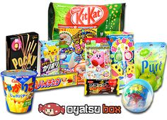 Pin OyatsuBox to your board! Japanese Subscription Box, Subscription Boxes, Japanese Snacks, Japanese Candy, Snack Box, Bubble Gum, Boruto, Animal Crossing, Crates