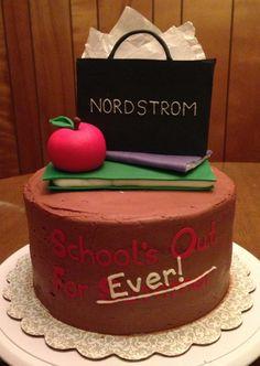 Teacher retirement cake