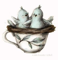 birds in a teacup  Jennifer A. Bell