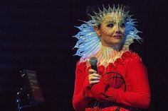 Harpa during Iceland Airwaves with Björk captured on exclusive photos by Santiago Felipe. Björk wore Emanuel Ungaro, Gucci, David Ferriera, Junya Watanabe and James Merry. Photos by Santiago Felipe.