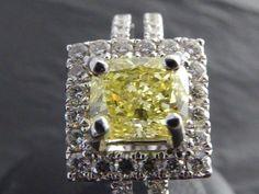 Catawiki Online-Auktionshaus: Ring mit seltenem russischem Fancy Intense Yellow Diamanten
