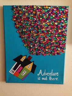 Disney& Up Adventure is Out There Acrylic Canvas by - Basteln - Diy And Crafts, Crafts For Kids, Arts And Crafts, Disney Crafts For Adults, Wooden Crafts, Summer Crafts, Creative Crafts, Easy Crafts, Easy Diy
