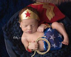 Newborn Wonder Women Superhero Costume for Girl, Photography Prop, DC Comics, Girl Hero, Girl Comics, Girl Halloween, Wonder Women Cosplay