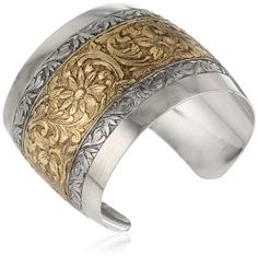 "1928 Jewelry Prominence Silver-Tone and Gold-Tone Cuff Bracelet, 7"" 1928 Jewelry http://www.amazon.com/dp/B002N6ZPYA/ref=cm_sw_r_pi_dp_8Ff0tb1AFPAG8HQS"