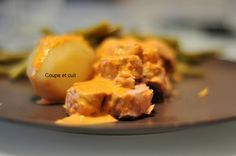 Filet mignon de porc et sa crème de chorizo oignon crème