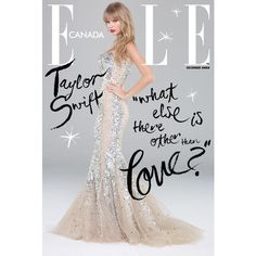 Elle Canada Cover Taylor Swift ❤ liked on Polyvore featuring taylor swift, models, red carpet, backgrounds and gown