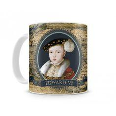 An 11oz coffee mug featuring Edward VI Each historical mug is designed and produced in the United States. Production time is approximately 7 to 10 business days.