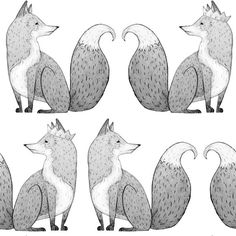 "Anewall offers designer childrens' wallpaper for your home, including our Mr Fox drawing wallpaper. Our best selling wallpapers come in a lovely matte finish and also come in either self adhesive (paste-free) or traditional paste and glue methods. Get this minimal, sketched fox pattern on your wall! Pre Pasted Permanent Childrens' Wallpaper Matte Finish Panels: 25""W x 108""H Repeat: 25""W x 108""H"