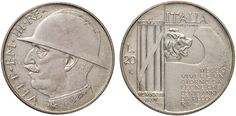 NumisBids: Nomisma Spa Auction 50, Lot 443 : Vittorio Emanuele III (1900-1946) 20 Lire 1928 Elmetto Prova di...