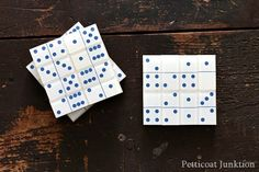 Make DIY dominoe coasters for your game room, crafts, #upcycle #creative #reuse
