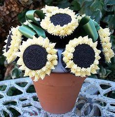Flower pot cupackes