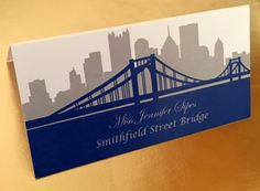 Pittsburgh Skyline and Bridge Escort or Place by PittsburghPixels