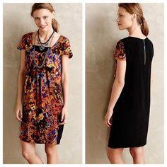 Anthropologie Mauve M Silk Pintura Shift Dress