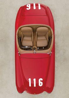 Ferrari 166 MM Barchetta by Touring de 1950.