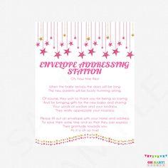 Pink and Gold Baby Shower Envelope Addressing by OhBabyShower