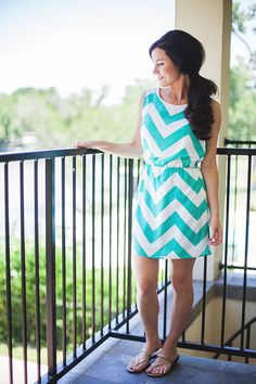 Chevron is my new obsession as is the minty teal color of this!