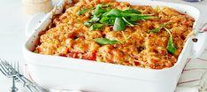 Tomaattinen jauhelihavuoka   Pääruoat   Reseptit – K-Ruoka Macaroni And Cheese, Ethnic Recipes, Food, Mac Cheese, Meal, Essen, Hoods, Mac And Cheese, Meals