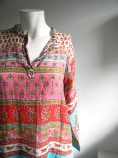 Indian Print Soft Cotton Tunic
