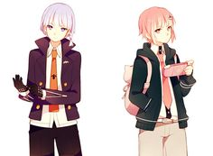 Kirigiri and Chiaki genderbend So hawt, hawt damn! Call a naegi and a hinata