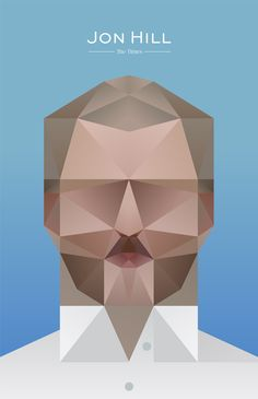 Geometric portrait of Jon Hill by Jack Daly